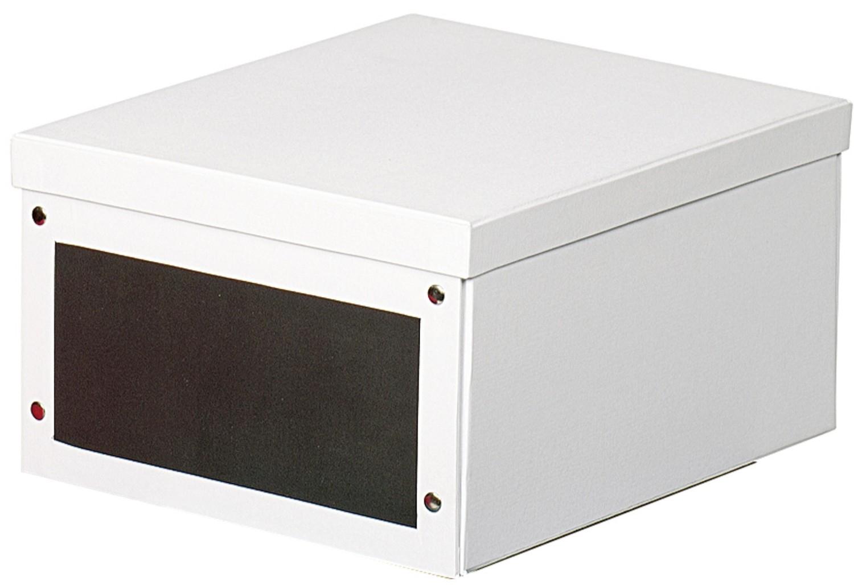 zeller present aufbewahrungsbox pappe wei klein neu ebay. Black Bedroom Furniture Sets. Home Design Ideas