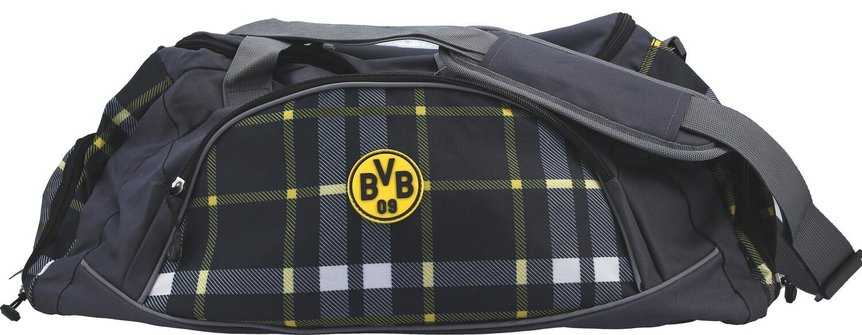 Bvb Borussia Dortmund Reisetasche Karo