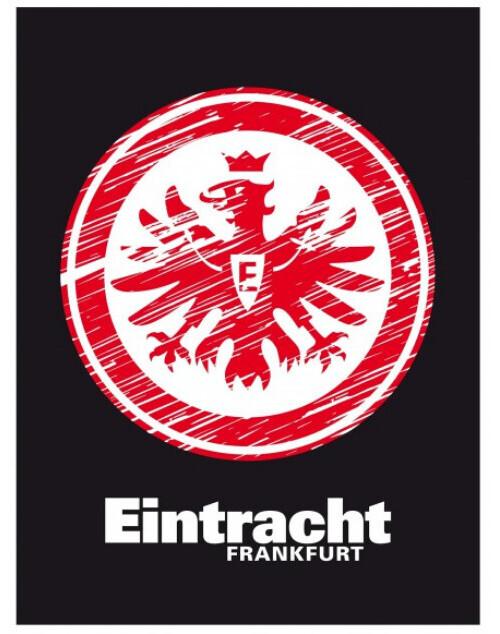 Eintracht Frankfurt Veloursdecke Logo 150x200cm