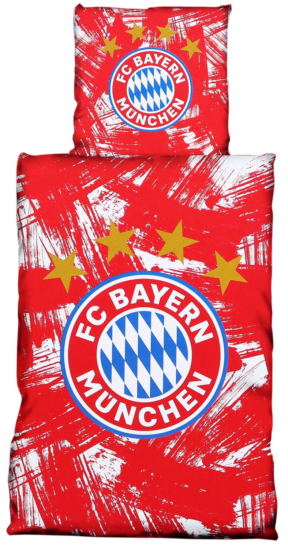 Fc Bayern München Bettwäsche Rotweiß 135x200cm Biber