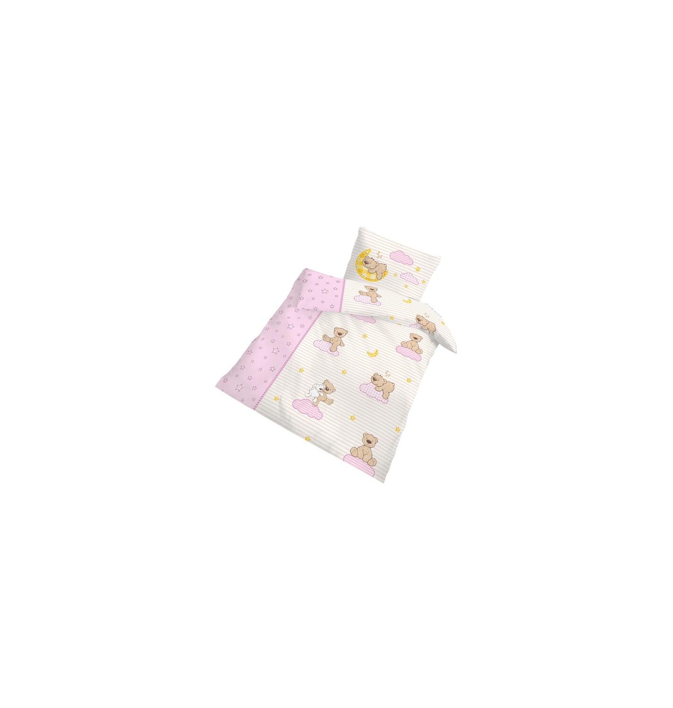 Baby Bettwäsche Teddy Rosa 100 X 135 Cm Biber