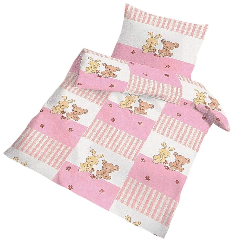 baby bettw sche h schen rosa 100 x 135 cm biber. Black Bedroom Furniture Sets. Home Design Ideas