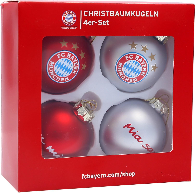 Fc Bayern Tannenbaum.Fc Bayern München Christbaumkugeln 7cm 4er Set