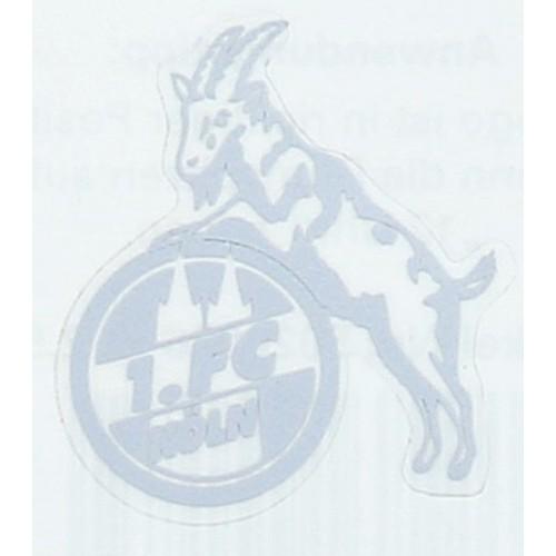 1 Fc Köln Aufkleber Transparent Silberfarben 3cm