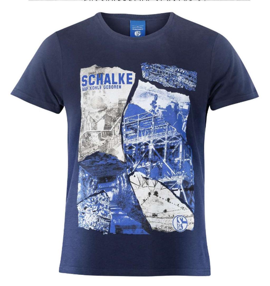 FC Schalke 04 Herren T-Shirt Cut /& Sewn