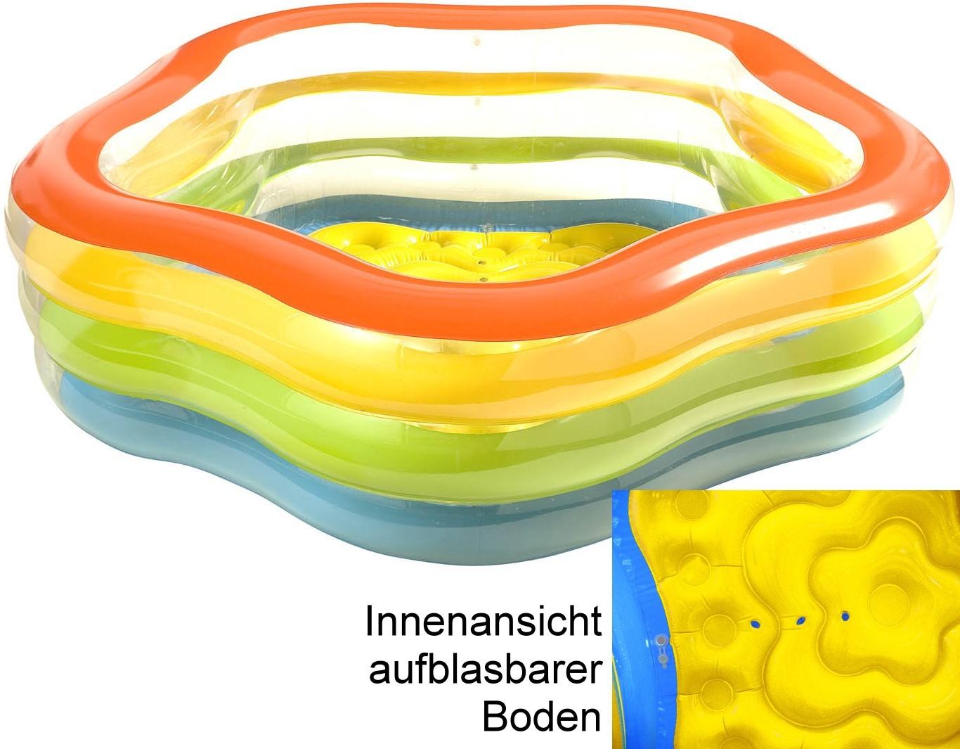 Pool sommerfarben 185 cm - Pool zum aufpumpen ...
