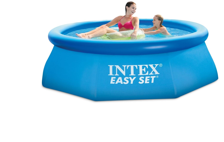 intex easy set pool 244x76 cm ohne pumpe. Black Bedroom Furniture Sets. Home Design Ideas