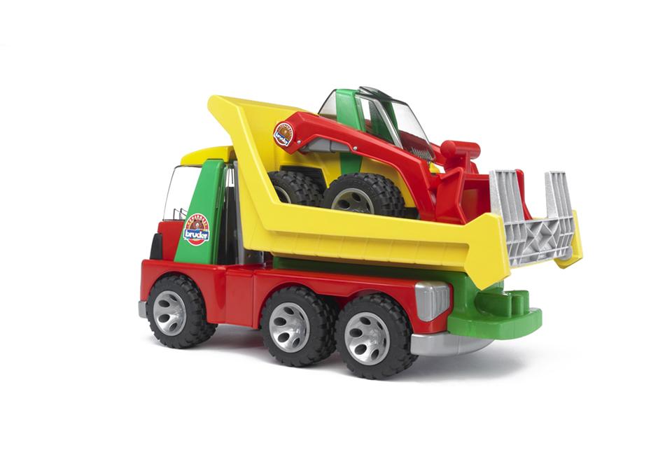 Bruder roadmax transporter mit kompaktlader
