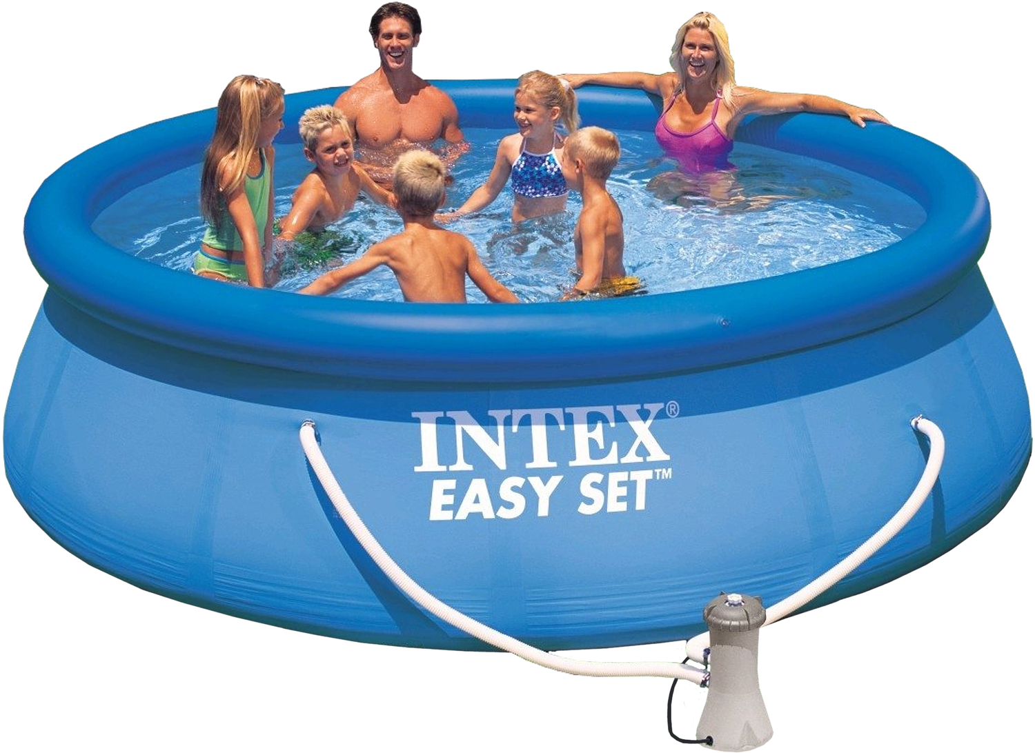 intex easy set pool mit filterpumpe. Black Bedroom Furniture Sets. Home Design Ideas