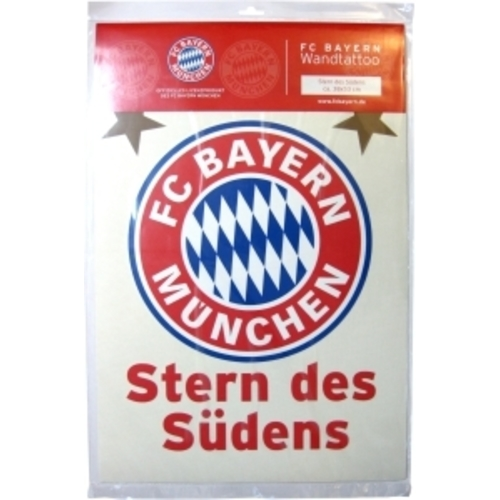 fc bayern m nchen wandtattoo stern des s dens 30x40 cm. Black Bedroom Furniture Sets. Home Design Ideas