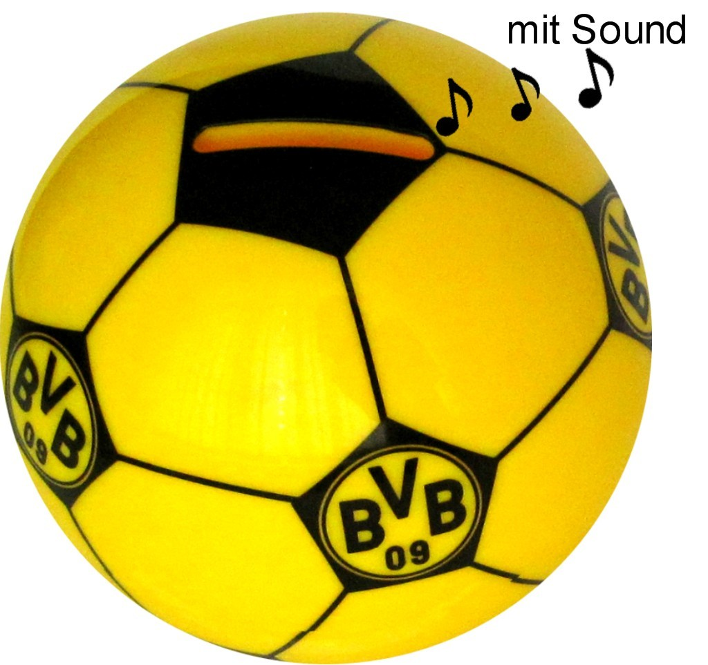 borussia dortmund fu ball spardose mit sound. Black Bedroom Furniture Sets. Home Design Ideas