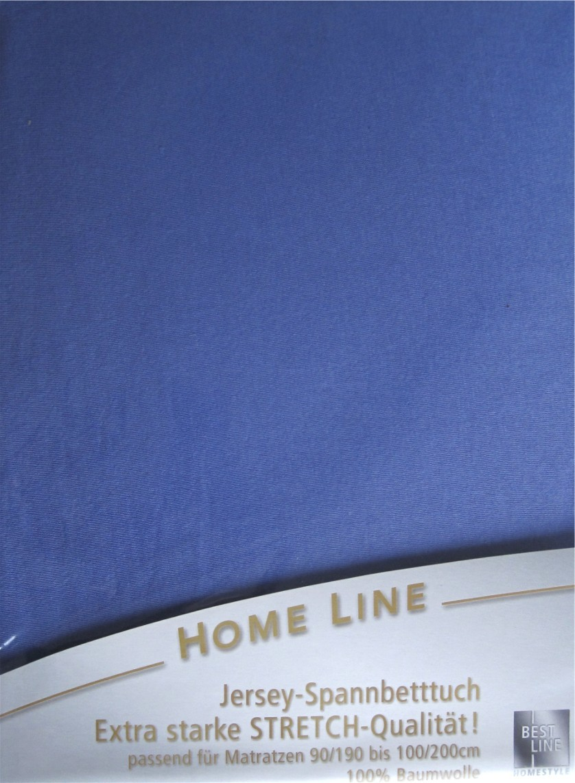 home line jersey spann bettlaken azurblau 100x200cm. Black Bedroom Furniture Sets. Home Design Ideas