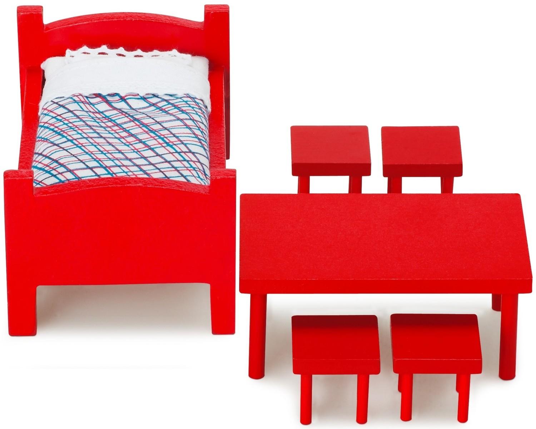 pippi langstrumpf m belset i rot. Black Bedroom Furniture Sets. Home Design Ideas