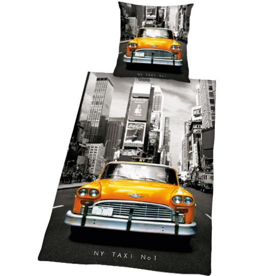 new york bettw sche taxi no 1 155x220cm. Black Bedroom Furniture Sets. Home Design Ideas