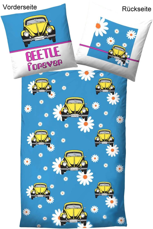 vw bettw sche vw beetle forever blau. Black Bedroom Furniture Sets. Home Design Ideas