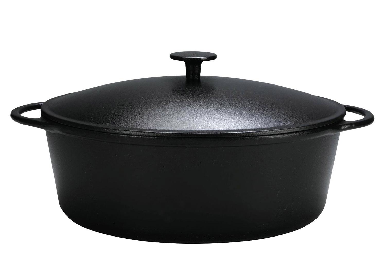 Krüger Gänsebräter schwarz 38cm 7,5 Liter