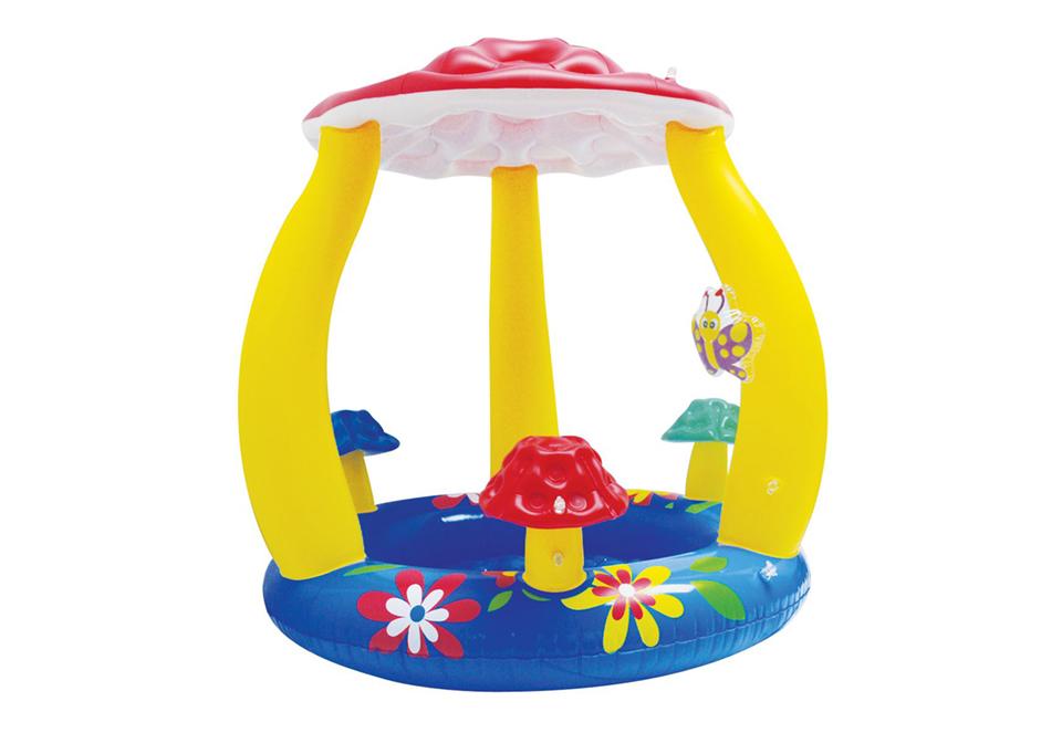 splash fun baby pool 39 pilz 39 mit dach. Black Bedroom Furniture Sets. Home Design Ideas