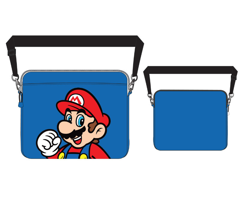 nintendo laptop tasche mario blau. Black Bedroom Furniture Sets. Home Design Ideas