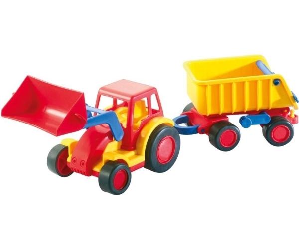 wader basics traktor mit schaufel und h nger. Black Bedroom Furniture Sets. Home Design Ideas