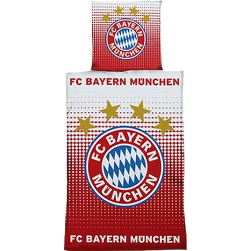 fc bayern m nchen bettw sche logo 135x200cm. Black Bedroom Furniture Sets. Home Design Ideas