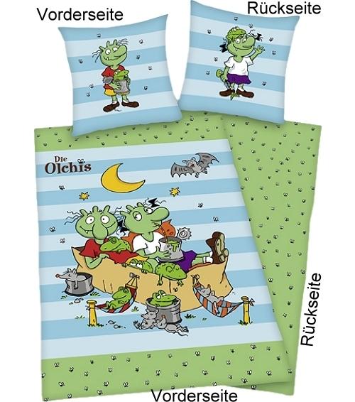 Die Olchis Bettwäsche Olchi Kinder 100 Baumwolle