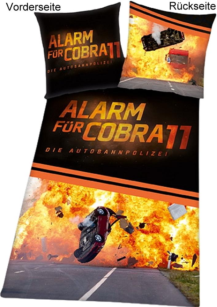 alarm f r cobra 11 microfaser bettw sche 135x200cm. Black Bedroom Furniture Sets. Home Design Ideas