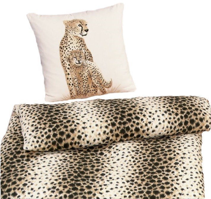 biber bettw sche leopard 135x200cm. Black Bedroom Furniture Sets. Home Design Ideas