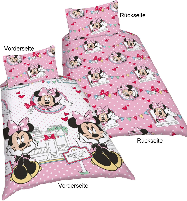 minnie mouse microfaser bettw sche minnie 39 s cafe. Black Bedroom Furniture Sets. Home Design Ideas
