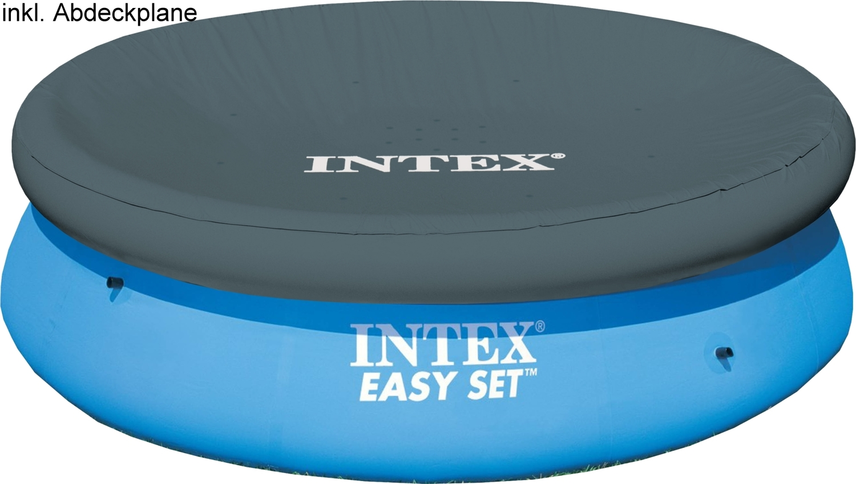 intex easy set pool mit abdeckplane 244x76 cm. Black Bedroom Furniture Sets. Home Design Ideas