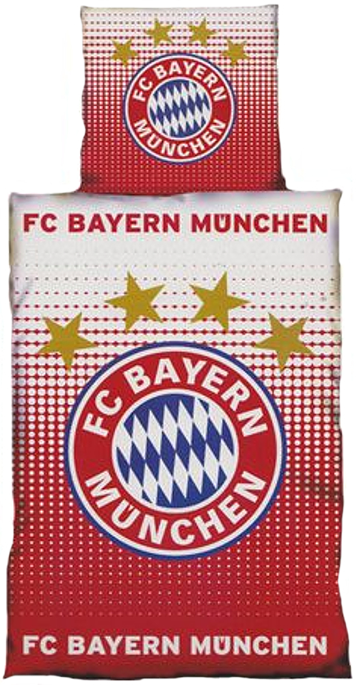fc bayern m nchen bettw sche logo 135x200cm biber. Black Bedroom Furniture Sets. Home Design Ideas