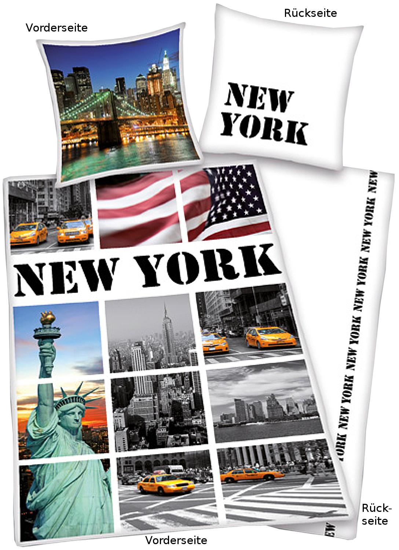 new york bettw sche fotos 135x200cm. Black Bedroom Furniture Sets. Home Design Ideas