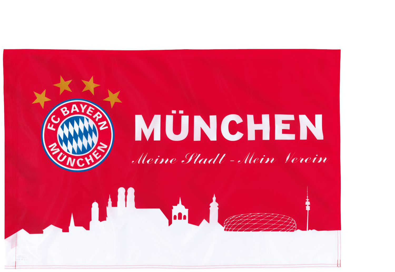 fc bayern m nchen fahne m nchen rot wei 60x40cm. Black Bedroom Furniture Sets. Home Design Ideas