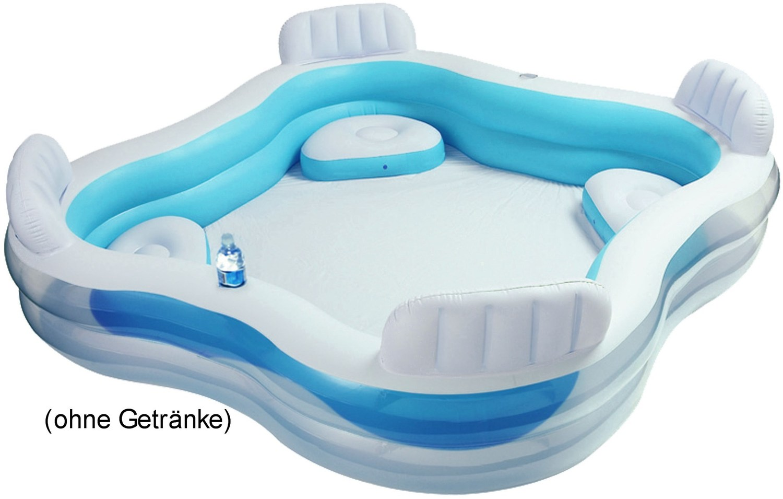 intex swim center family lounge pool 229x229x66cm hellblau. Black Bedroom Furniture Sets. Home Design Ideas