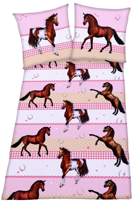 Kinder Bettwäsche Pferd 135x200cm