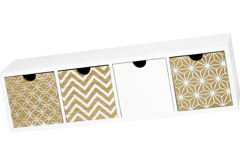 aufbewahrungsregal 44 x 12 x 10 cm. Black Bedroom Furniture Sets. Home Design Ideas