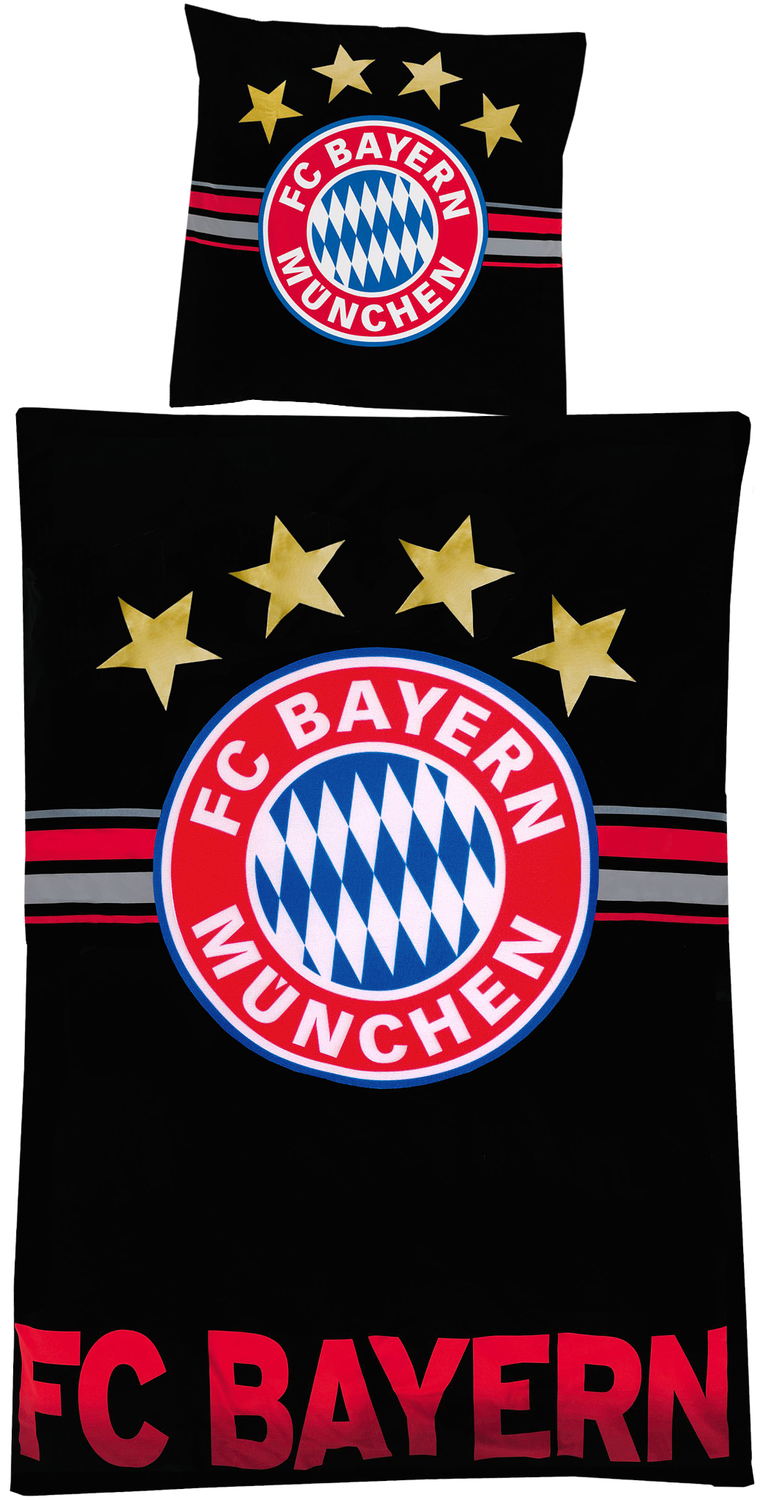 fc bayern m nchen bettw sche fc bayern schwarz. Black Bedroom Furniture Sets. Home Design Ideas