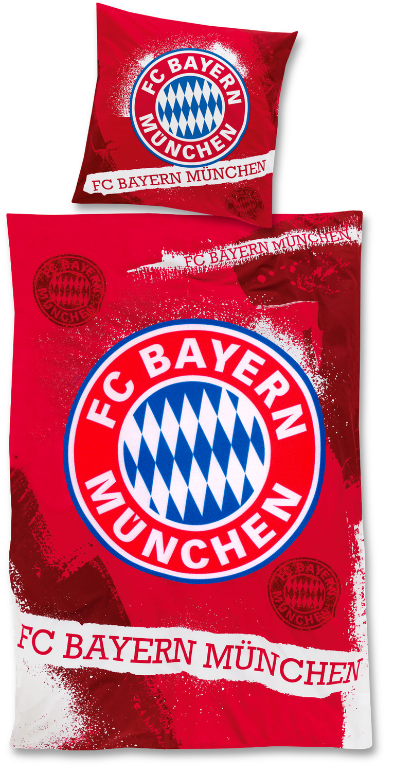fc bayern m nchen bettw sche fan rot 135x200cm. Black Bedroom Furniture Sets. Home Design Ideas