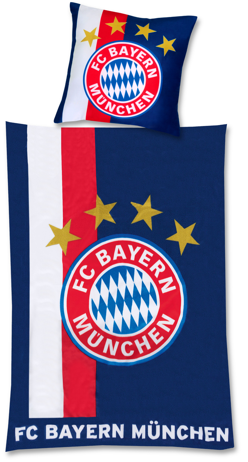 fc bayern m nchen bettw sche navy 135x200cm. Black Bedroom Furniture Sets. Home Design Ideas