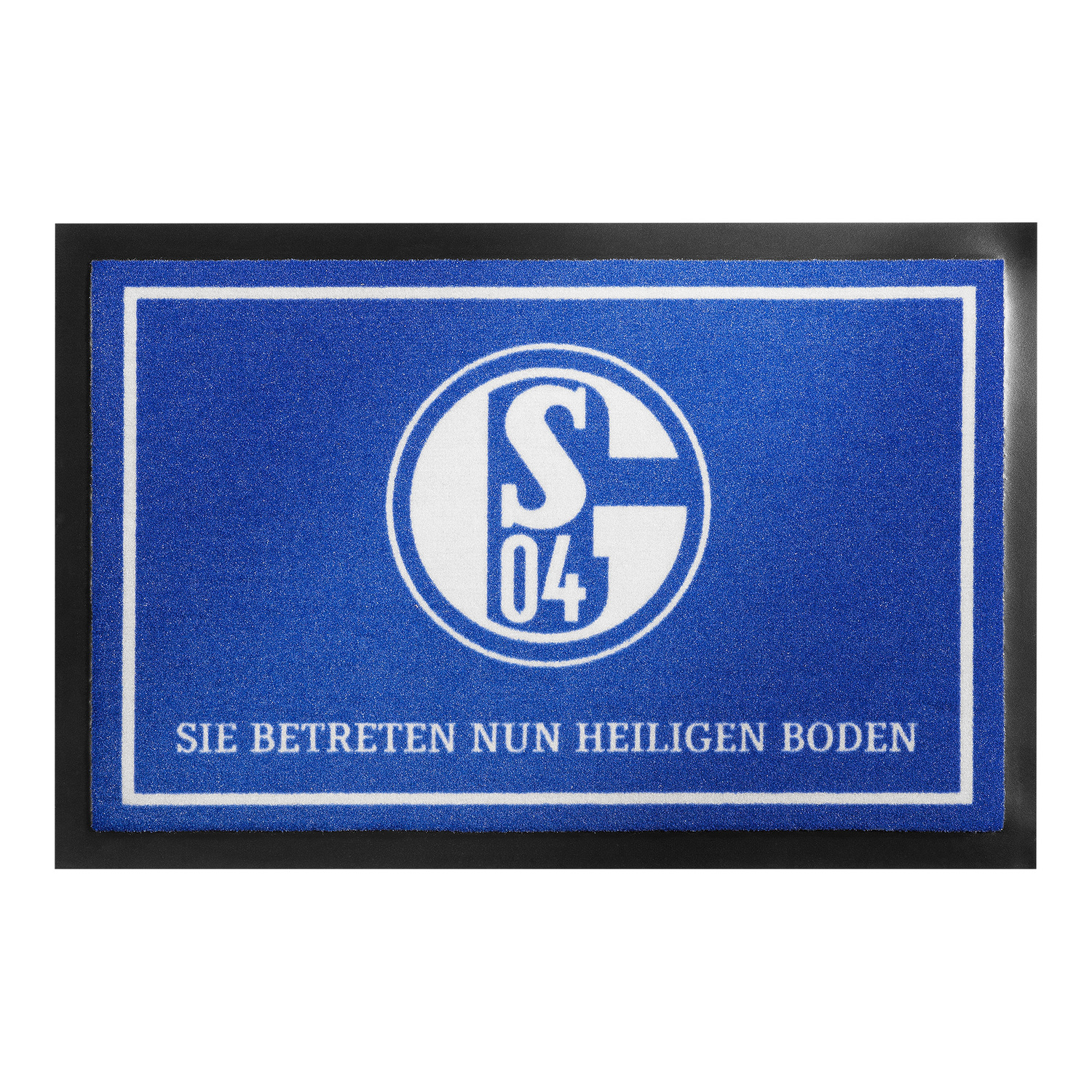 fc schalke 04 fu matte heiliger boden 40x60cm. Black Bedroom Furniture Sets. Home Design Ideas