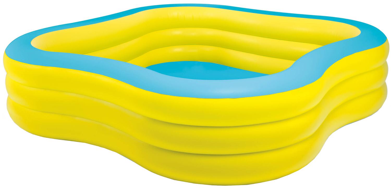 Intex pool beach wave 229x229x56cm - Pool zum aufpumpen ...