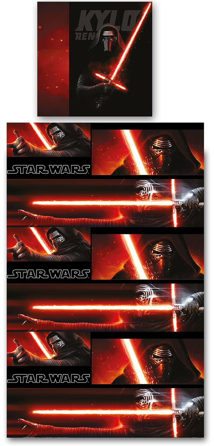 star wars bettw sche kylo ren allover 135x200cm. Black Bedroom Furniture Sets. Home Design Ideas