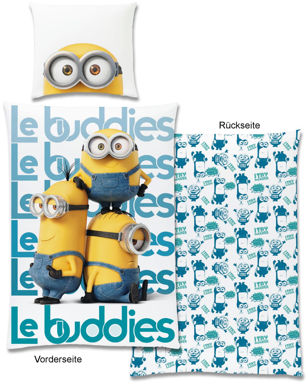 Minions Bettwäsche Les Buddies Ii 135x200cm