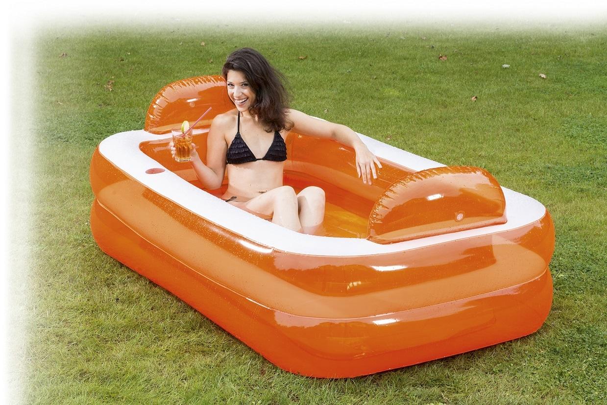 Pool relax und genie er 195x122x50cm - Pool zum aufpumpen ...
