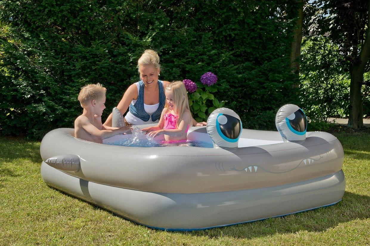 Jumbo pool im hai design 196x148x46cm - Pool zum aufpumpen ...