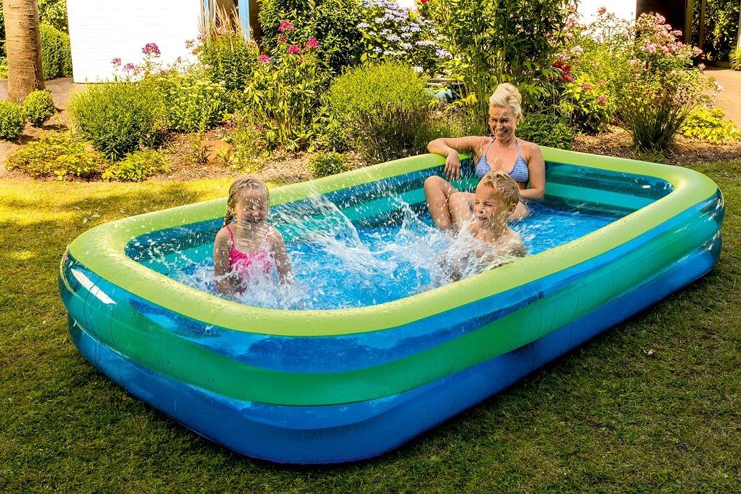 jumbo pool blau gr n. Black Bedroom Furniture Sets. Home Design Ideas