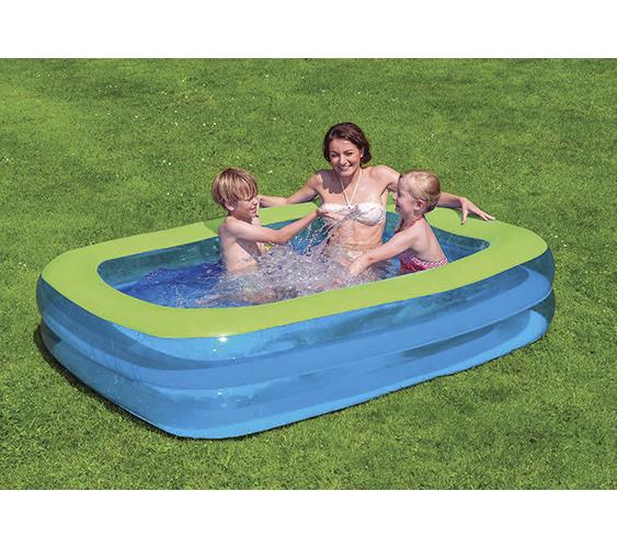 Family pool blau gr n 200x150x50cm - Pool zum aufpumpen ...