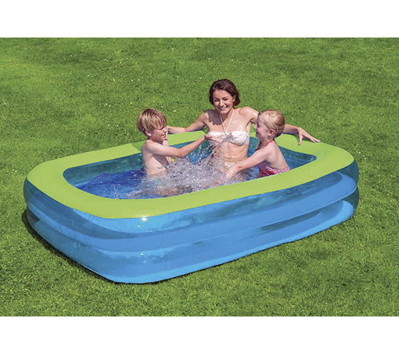 family pool blau gr n 200x150x50cm. Black Bedroom Furniture Sets. Home Design Ideas
