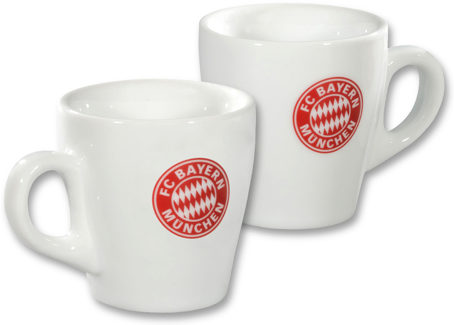 fc bayern m nchen espresso tassen 2er set wei. Black Bedroom Furniture Sets. Home Design Ideas