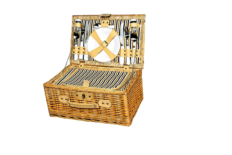 picknickkorb f r 2 personen 40x27x19cm. Black Bedroom Furniture Sets. Home Design Ideas