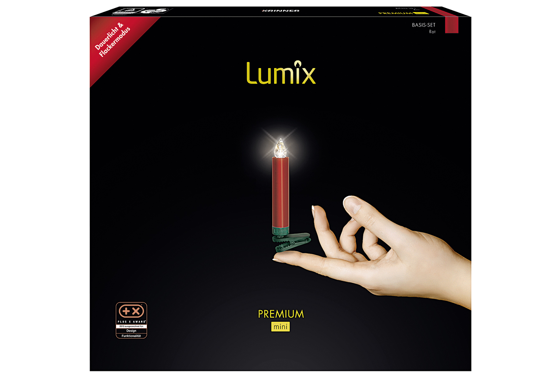 Lumix premium mini rot 12er baumkerzen - Lumix baumkerzen ...